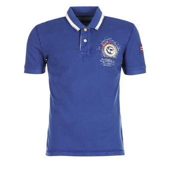 material Men short-sleeved polo shirts Napapijri GANDYS Blue