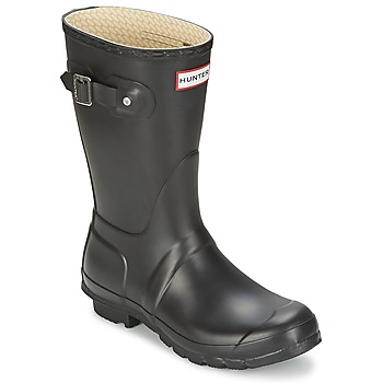 Shoes Women Wellington boots Hunter WOMEN'S ORIGINAL SHORT Black