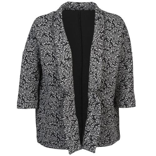 material Women Jackets / Blazers Sisley FRANDA Black / Grey