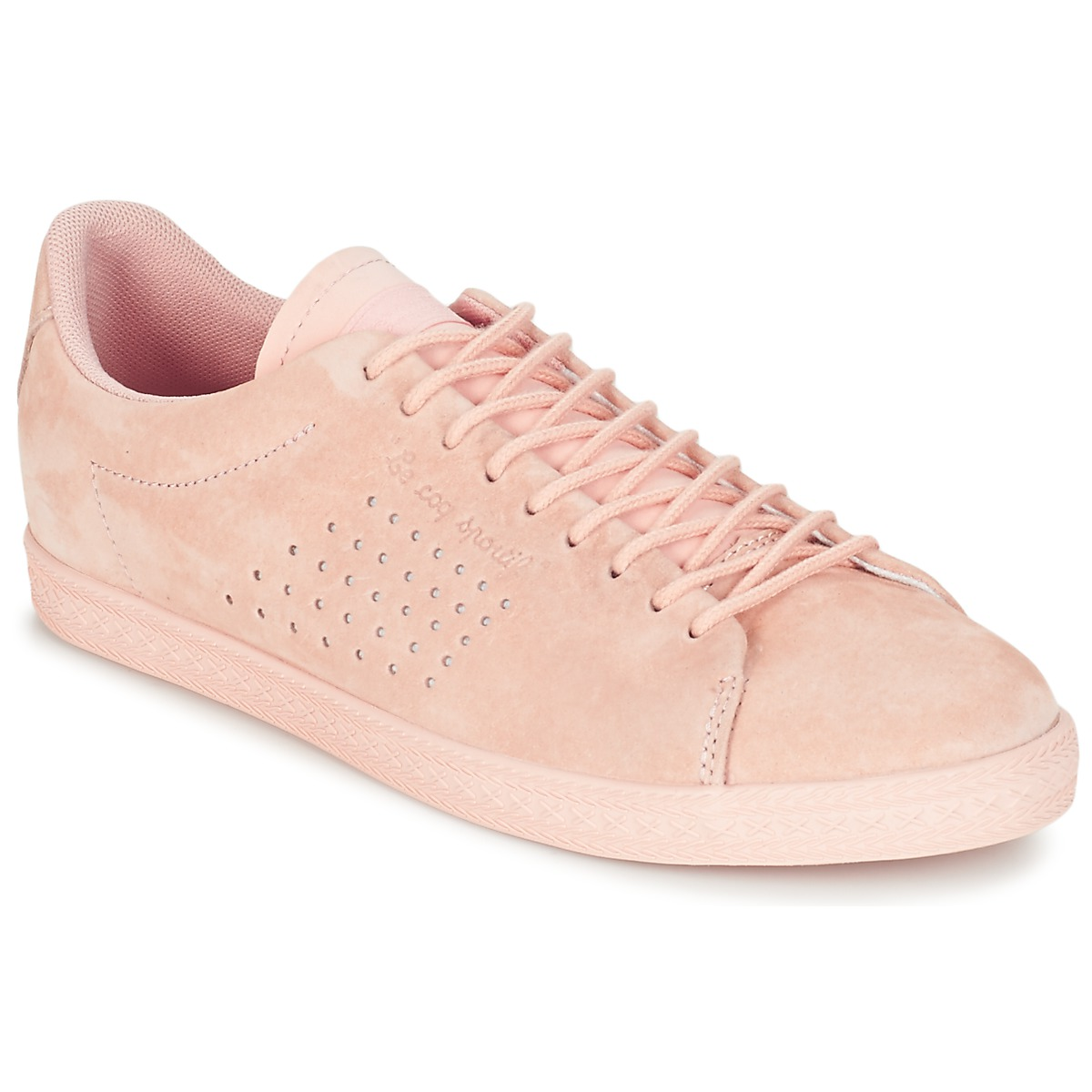 le coq sportif charline nubuck pink fast delivery with spartoo europe shoes low top. Black Bedroom Furniture Sets. Home Design Ideas