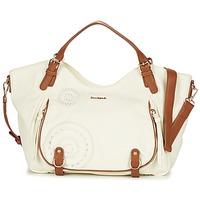 Bags Women Shoulder bags Desigual ROTTERDAM AVIGNON Ecru / Camel