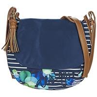 Bags Women Shoulder bags Desigual GENOVA IVYBLUE MARINE / CAMEL
