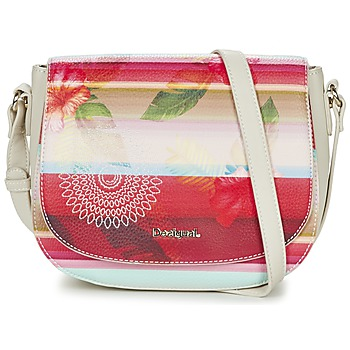 Bags Women Shoulder bags Desigual VARSOVIA POLYNESIA Ecru / Multicoloured