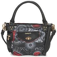 Bags Women Handbags Desigual MCBEE MINI BARBADOS Black / Grey / Red
