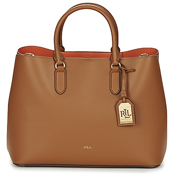 Bags Women Handbags Lauren Ralph Lauren DRYDEN MARCY TOTE Brown / Orange