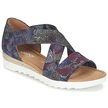 Shoes Women Sandals Gabor WOLETTE Blue / Violet