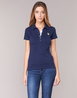 material Women short-sleeved polo shirts U.S Polo Assn. LOGO MARINE