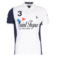 material Men short-sleeved polo shirts U.S Polo Assn. SAINT TROPEZ POLO White