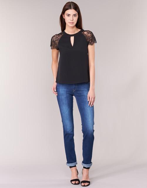 material Women straight jeans Lee MARION STRAIGHT Blue / Medium