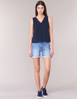 material Women Shorts / Bermudas Lee BOYFRIEND SHORT Blue / MEDIUM