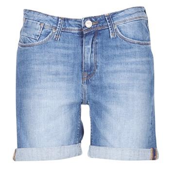 material Women Shorts / Bermudas Lee BOYFRIEND SHORT Blue / Medium