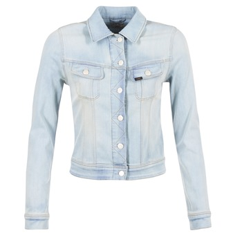 material Women Denim jackets Lee SLIM RIDER Blue / Clear