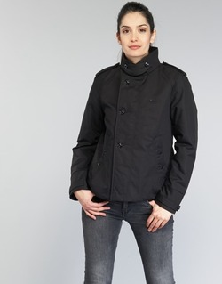 material Women Trench coats G-Star Raw FLORENCE CROPPED Black