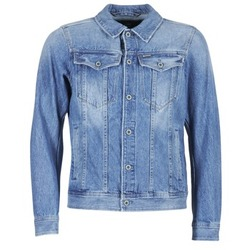 material Men Denim jackets G-Star Raw 3301 DECONSTRUCTED 3D SLIM Blue