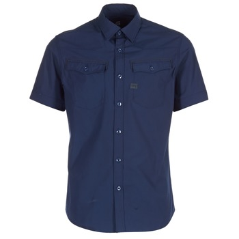 material Men short-sleeved shirts G-Star Raw 3301 SHIRT MARINE