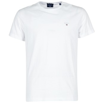 material Men short-sleeved t-shirts Gant THE ORIGINAL T-SHIRT White