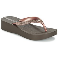 Shoes Women Flip flops Ipanema MESH PLAT II Brown / Pink