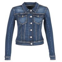 material Women Denim jackets Meltin'pot JUSTINE Blue / Raw