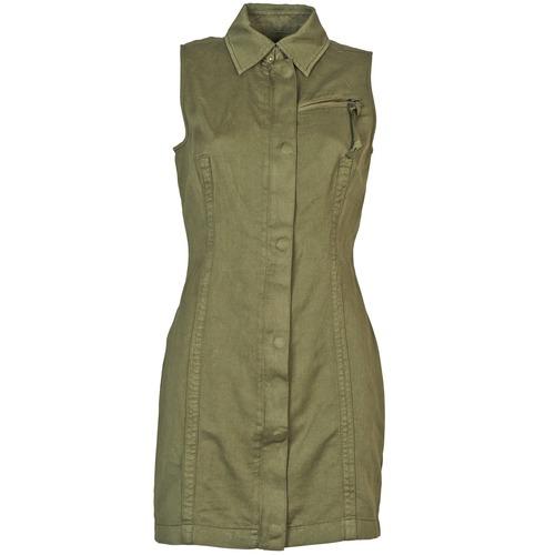 material Women Short Dresses Diesel D-NAOMIE KAKI