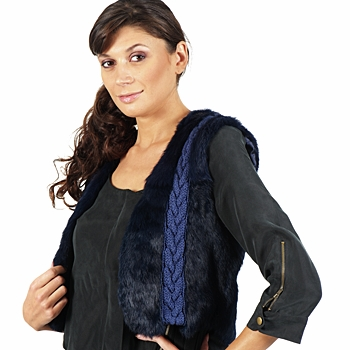 material Women Jackets / Blazers April First GILET SANS MANCHE Blue