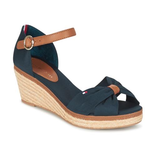 Shoes Women Sandals Tommy Hilfiger ELBA 40D Marine / Brown