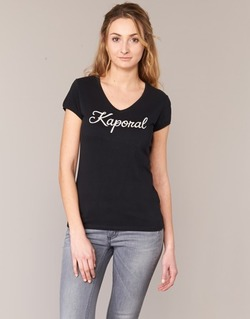 material Women short-sleeved t-shirts Kaporal NIAM Black
