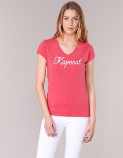 material Women short-sleeved t-shirts Kaporal NIAM Pink