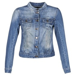 material Women Denim jackets DDP DASTIONA Blue / MEDIUM
