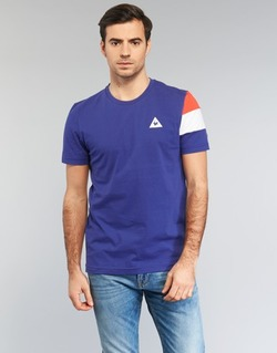 material Men short-sleeved t-shirts Le Coq Sportif BLUREA Blue