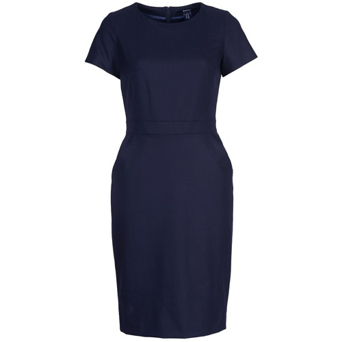 material Women Short Dresses Gant BROMS Marine