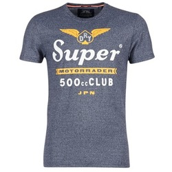 material Men short-sleeved t-shirts Superdry 500 CLUB MOTORRADER Grey