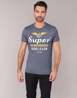 material Men short-sleeved t-shirts Superdry 500 CLUB MOTORRADER Grey