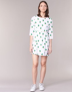 material Women Short Dresses Compania Fantastica ECACTUSSA White