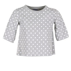 material Women short-sleeved t-shirts Compania Fantastica EPOITATI Grey / White