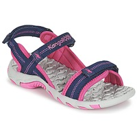 Shoes Girl Sports sandals Kangaroos MUSER Marine / Pink
