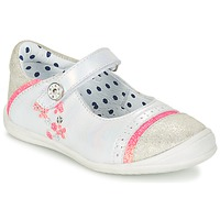 Shoes Girl Ballerinas Catimini PIPISTRELLE Silver / CORAL