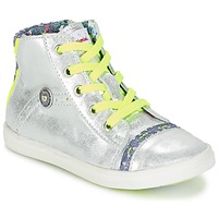 Shoes Girl High top trainers Catimini PARULINE Silver