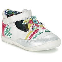Shoes Girl Ballerinas Catimini PANTHERE White / Silver