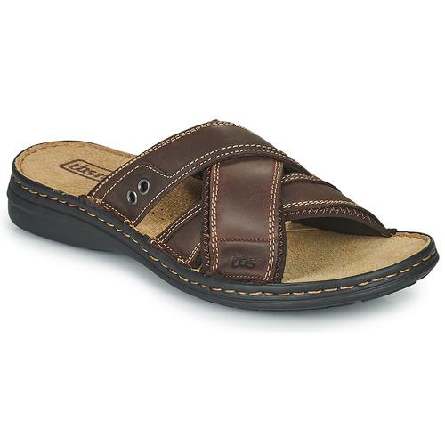 Shoes Men Mules TBS BENAIX Brown