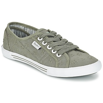 Shoes Women Low top trainers Pepe jeans ABERLADY ANGLAISE Grey