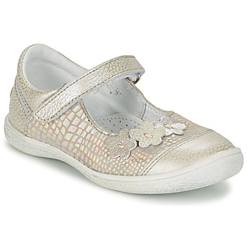 Shoes Girl Ballerinas GBB PRATIMA Grey / Silver