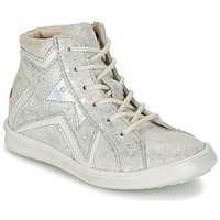 Shoes Girl High top trainers GBB PRUNELLA Grey / Silver