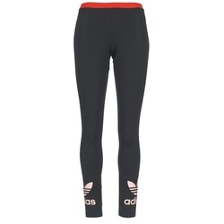 material Women leggings adidas Originals TREFOIL LEGGING Black / Pink
