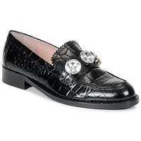 Shoes Women Loafers Moschino Cheap & CHIC STONES Black