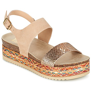 Shoes Women Sandals Bullboxer GROJETINE BEIGE / Multicoloured