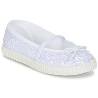 Shoes Girl Ballerinas Chipie SALSABA GLITTER / White