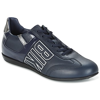 Shoes Men Low top trainers Bikkembergs R-EVOLUTION 186 LEATHER Blue