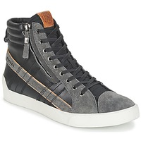 Shoes Men High top trainers Diesel D-STRING PLUS Grey