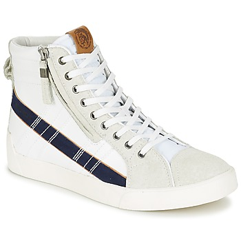 Shoes Men High top trainers Diesel D-STRING PLUS White / Blue