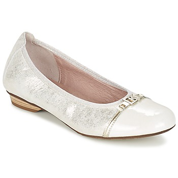 Shoes Women Ballerinas Dorking TELMA Silver / Beige